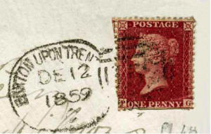 burton Postmark penny red